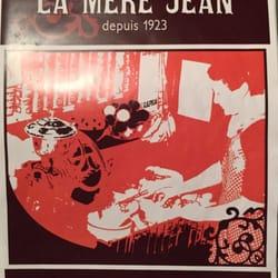 La Mère Jean - Lyon, France. Part of the local recommended restaurants since 1923!