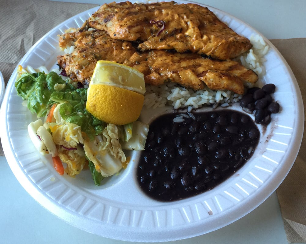 Snapper with cajun butter sauce black beans and rice yelp for Phils fish grill