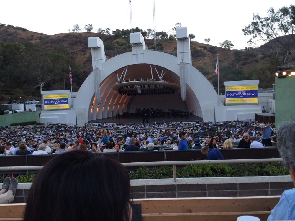 Section g2 row 4 seat 18 yelp for Terrace 2 hollywood bowl
