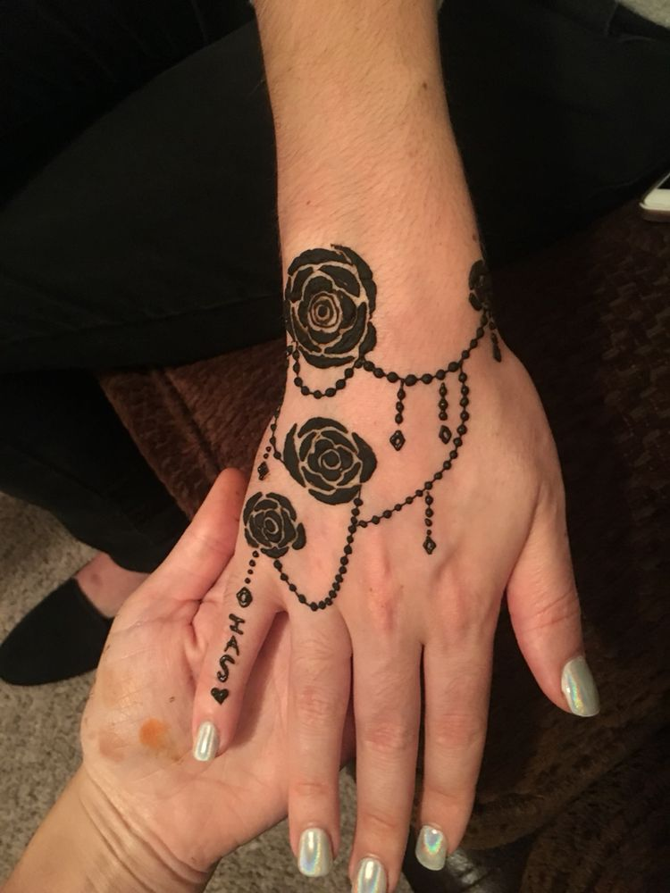 Simple Rose Henna For A First Timer Yelp