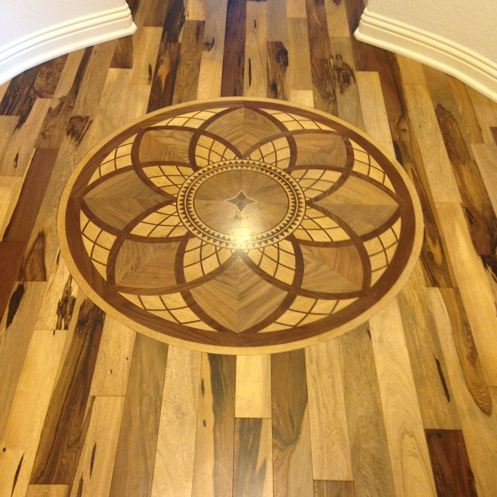 Flooring Services Austin : Brazilian pecan with patterned inset yelp
