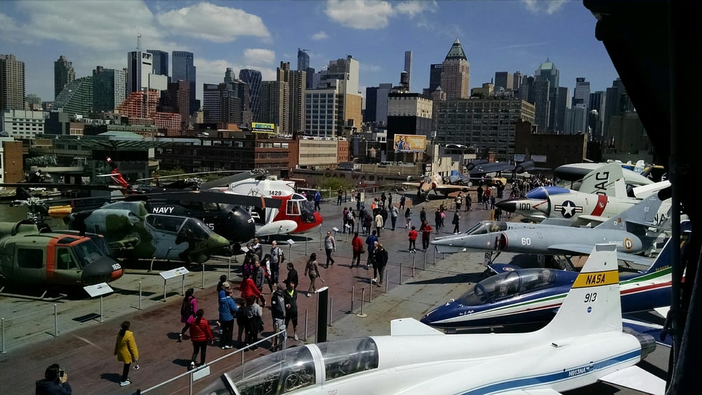 Photo of Intrepid Sea Air & Space Museum - New York, NY, United States. People and planes