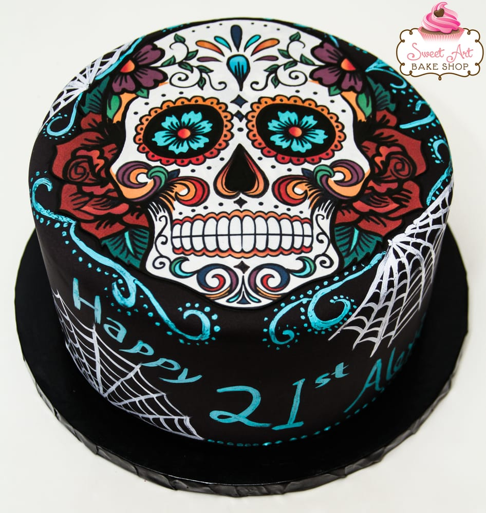 Candy Skull Cake Decorations