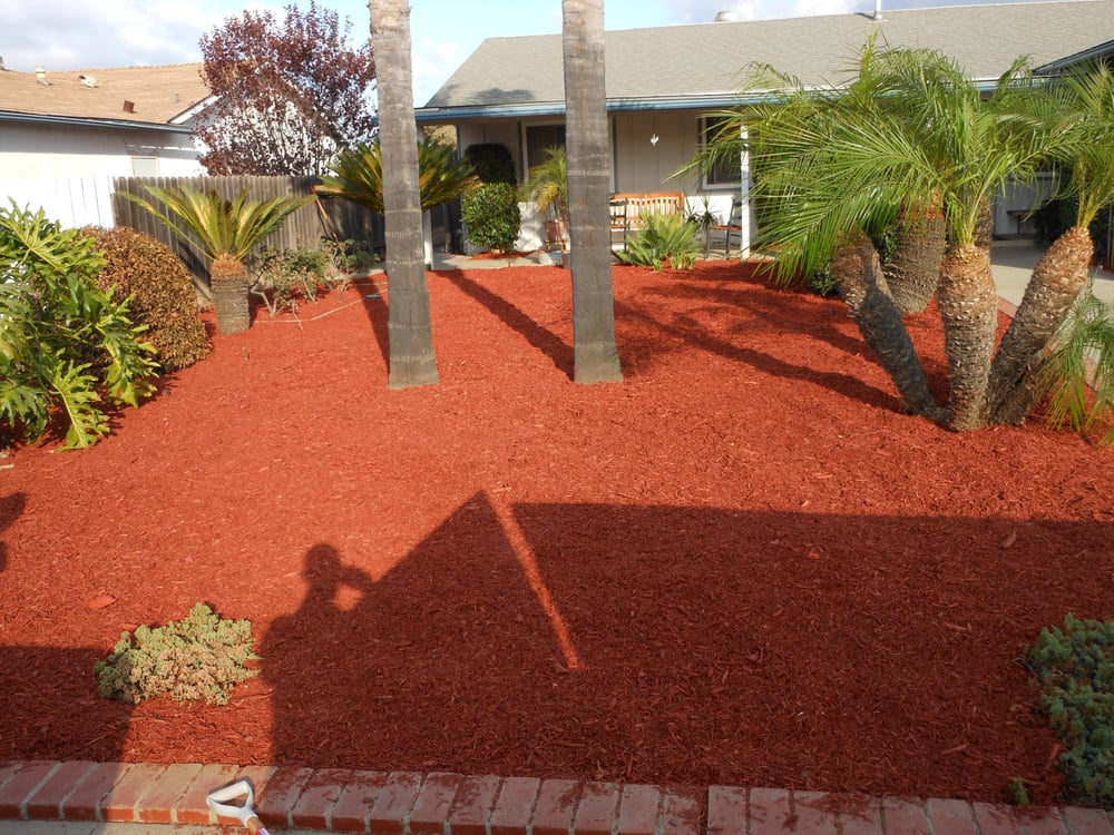 Wood Chips For Landscaping ~ Zero scape red wood chips yelp