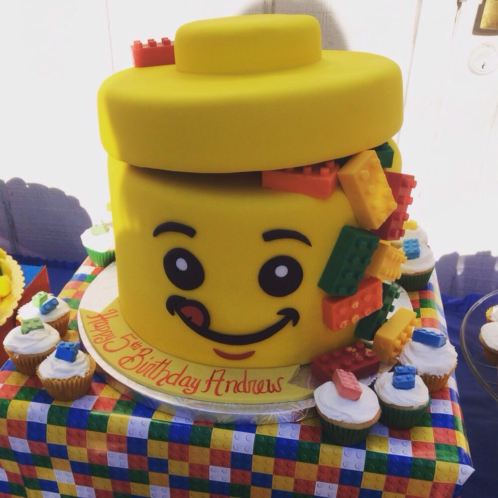 Lego Theme Cake For My Sons 5th Birthday!