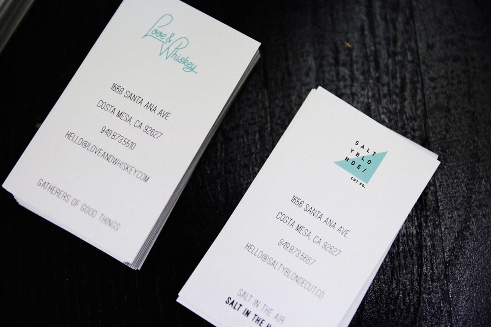 Our Dual Sided Business Card With Our Partners Salty Blonde Cut Co
