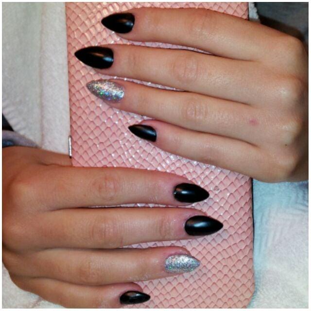 Photo Of Helen S Nails Lemon Grove Ca United States Black Silver