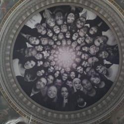 Le Panthéon - Paris, France. Look up! #JR