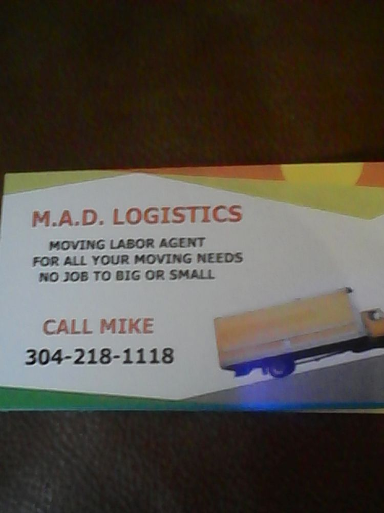 M A D Logistics Moving Labor: Salem, WV
