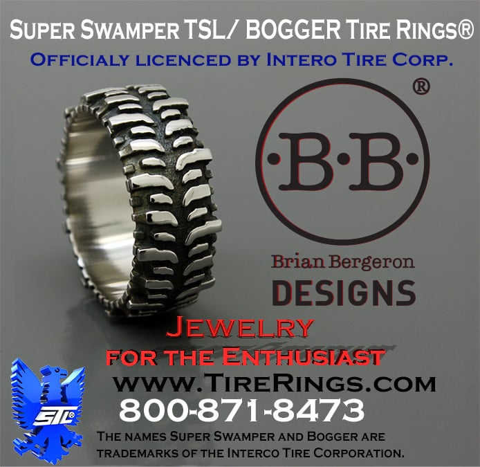 Brian Bergeron Designs Swamper Bogger Tire Rings And Pendants Officially Licensed With Interco Yelp