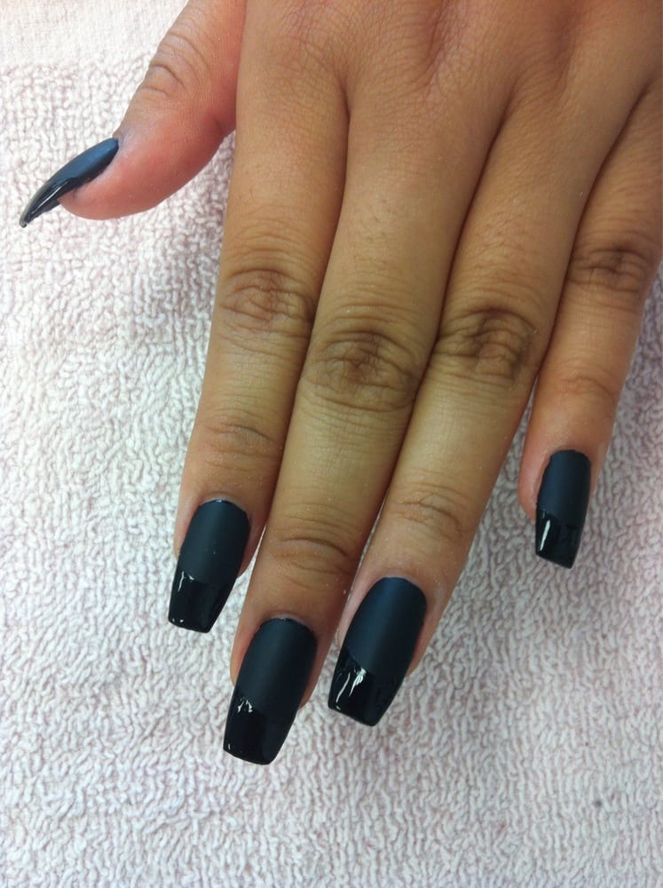 Coffin shape matte black & shiny black tip - Yelp
