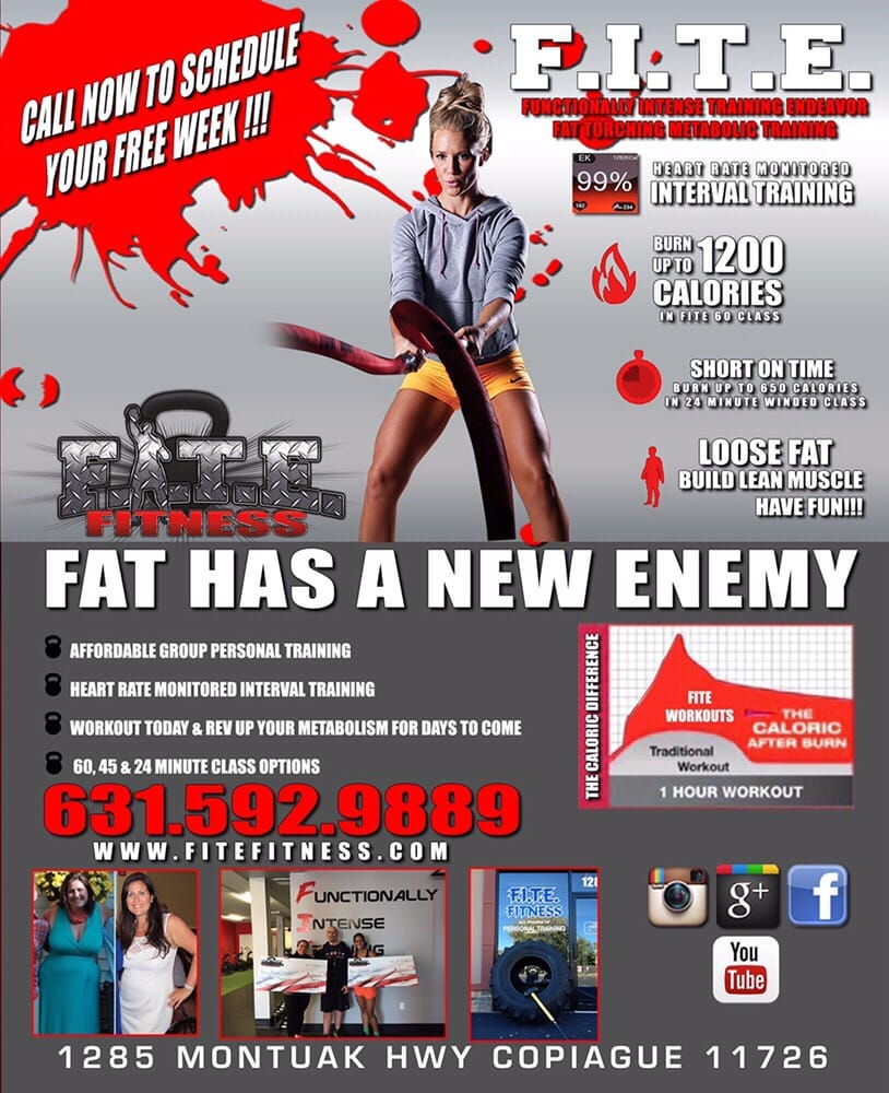 FITE Fitness: 1285 Montauk Hwy, Copiague, NY