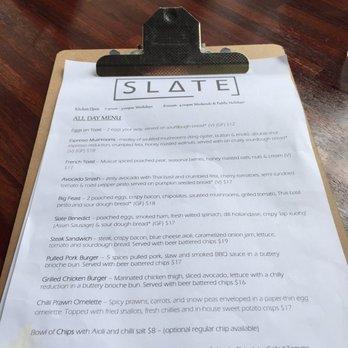 photo of slate cafe west swan western australia australia menu page 1 - Slate Cafe Ideas