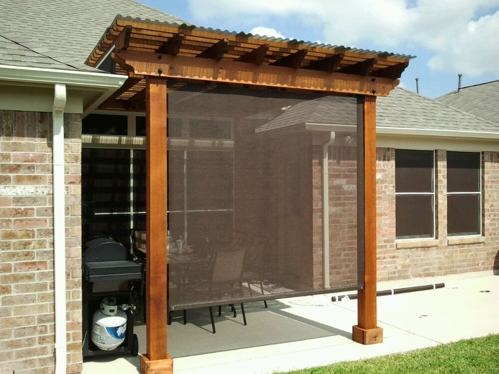 Roller Shade solar screens, great for patio, poolside and all ...