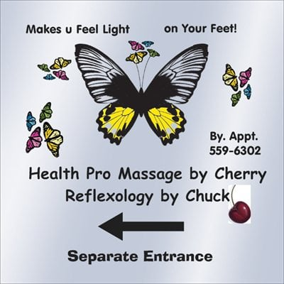 Health Promoting Massage by Cherry - Refllexology by Chuck: 111 S Appleknocker Dr, Cobden, IL