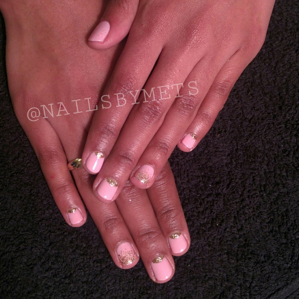 Gelish glitter nail art manicure in London   NAILS BY METS   Mobile ...