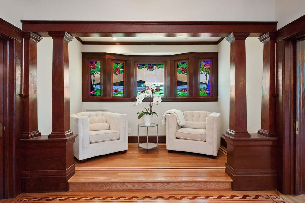 Whit Oak Floor With Maple Cherry And Walnut Trim Yelp