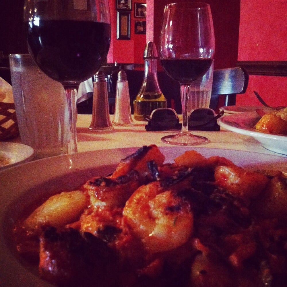 Great wine selection and scallops shrimps and black for Anthony s creative italian cuisine