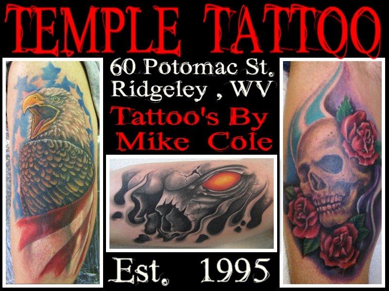 Temple Tattoo: 60 Potomac St, Ridgeley, WV