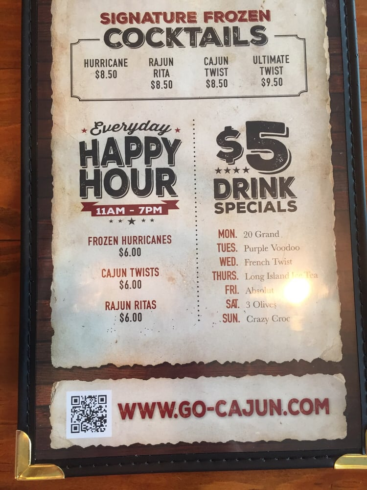 Cajun Kitchen Houston Menu