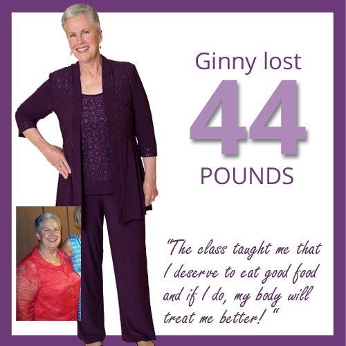 44 pounds and stopped yo-yo dieting