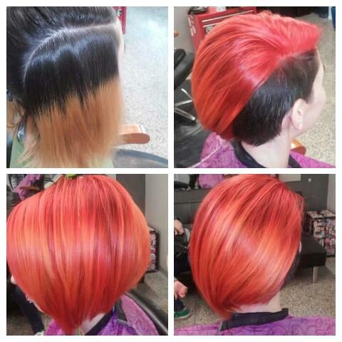 Before and after cut and color by brandy yelp for Lux hair salon