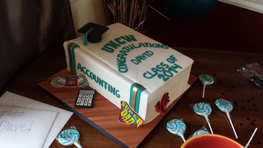 Accounting Graduation Textbook Cake By Anna Of One Belle Bakery Yelp