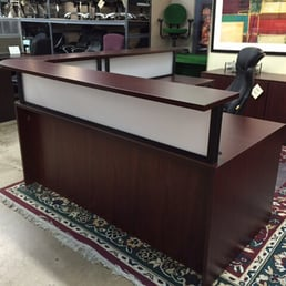Office Desk Side Table Furniture Legs Front Counter