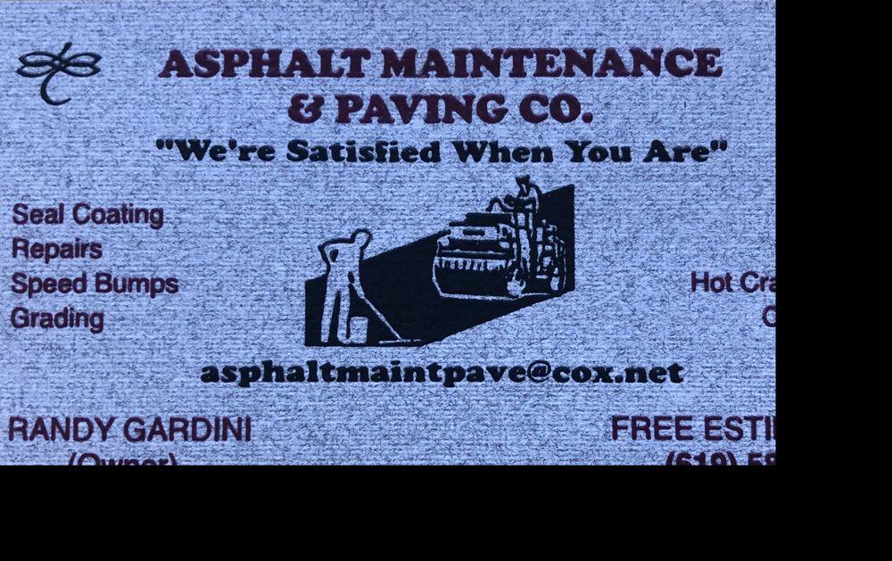Asphalt Maintenance & Paving Company: 1439 Horsemill Rd, El Cajon, CA