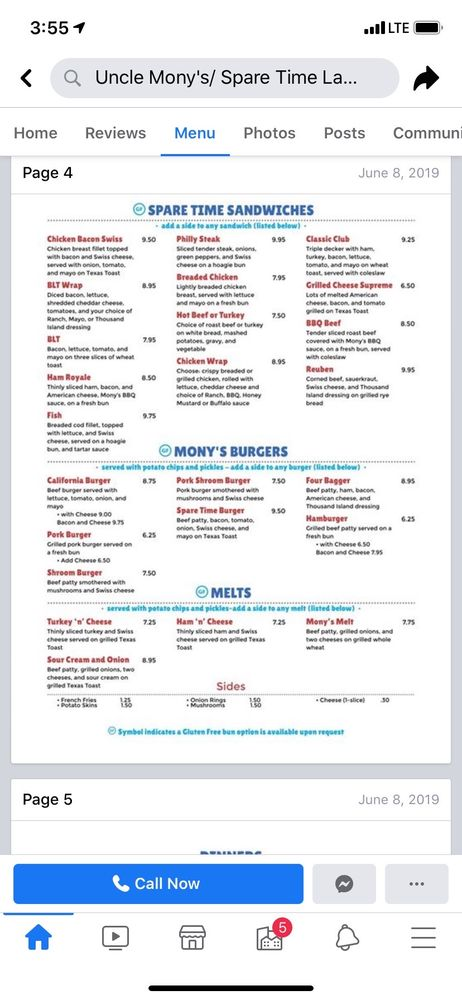 Uncle Mony's Restaurant: 18 2nd St NE, Hayfield, MN