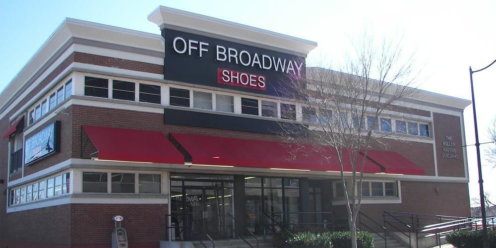 Off Broadway Shoe Warehouse | Fort Leavenworth, KS. Off Broadway Shoes, Inc is an Charlotte, NC based big box shoe retailer that specializes in branded, designer name footwear at warehouse prices.
