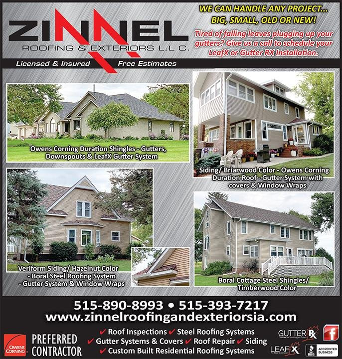 Zinnel Roofing and Exteriors: Humboldt, IA