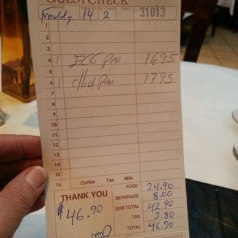 Photo Of Primo Amore Italian Restaurant Flushing Ny United States The Check