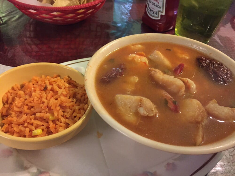 Fish and shrimp soup huge bowl comes with rice and for Fish and shrimp soup