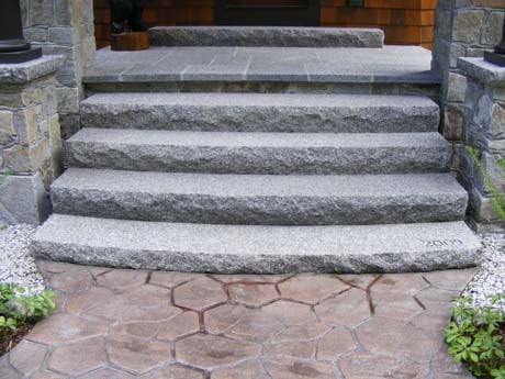 Granite steps are the perfect addition to any house  Swenson