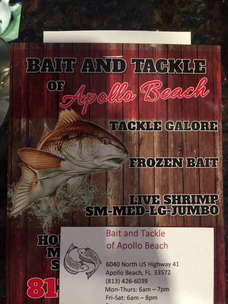 Bait & Tackle Of Apollo Beach: 6040 N US Hwy 41, Apollo Beach, FL
