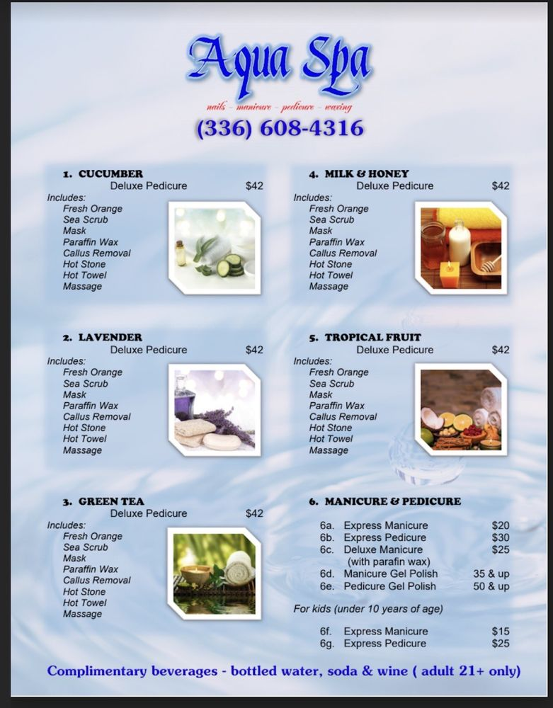 Aqua Spa & Nails: 1606 S Stratford Rd, Winston-Salem, NC
