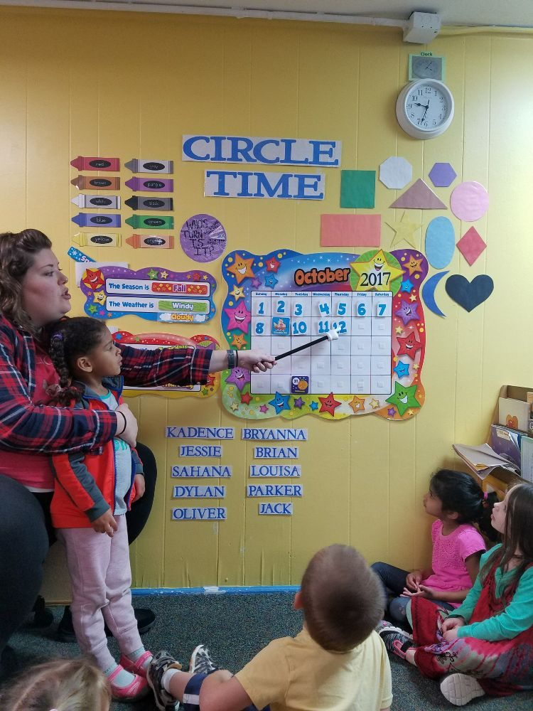 Circle Time where the pre-school children work on ...
