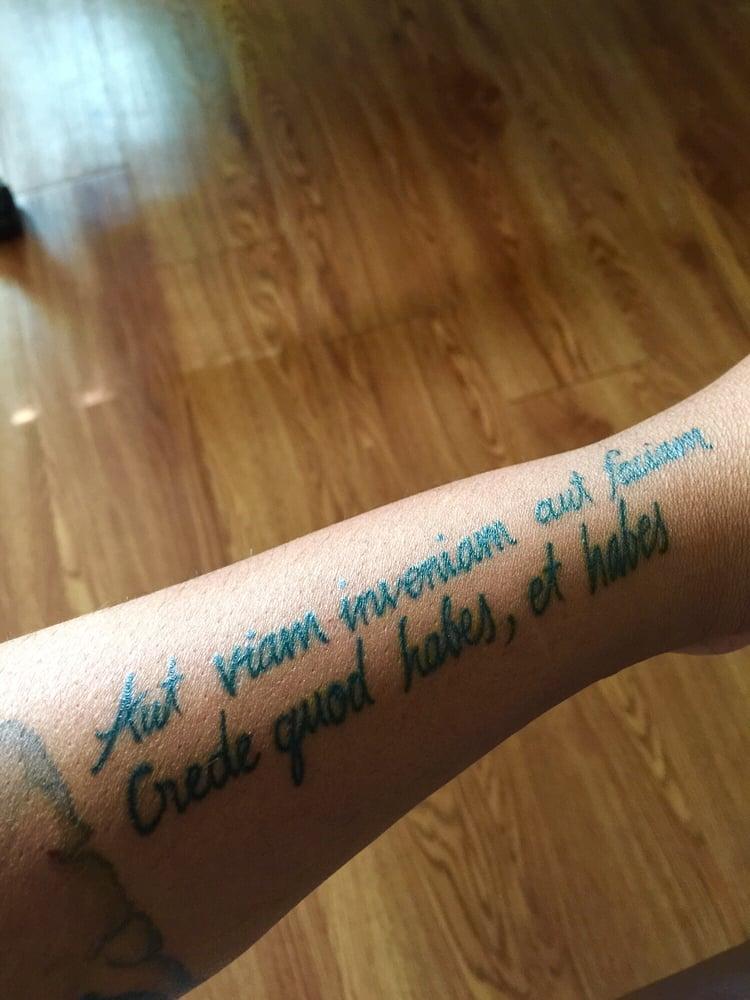 Latin script piece by charlie cu yelp for Charlie cu tattoo