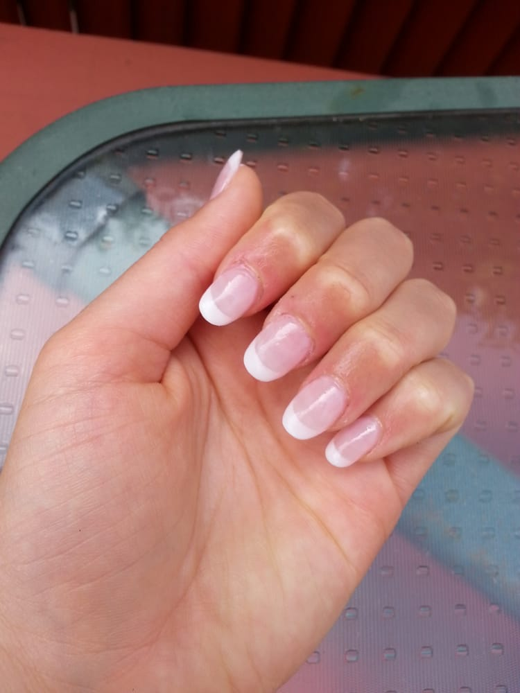 My French-tip acrylic nails by Peter - Yelp