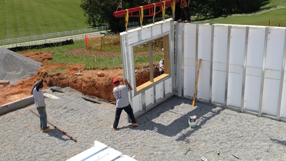 Team K-Wall Installing A MonoKast Insulated Precast