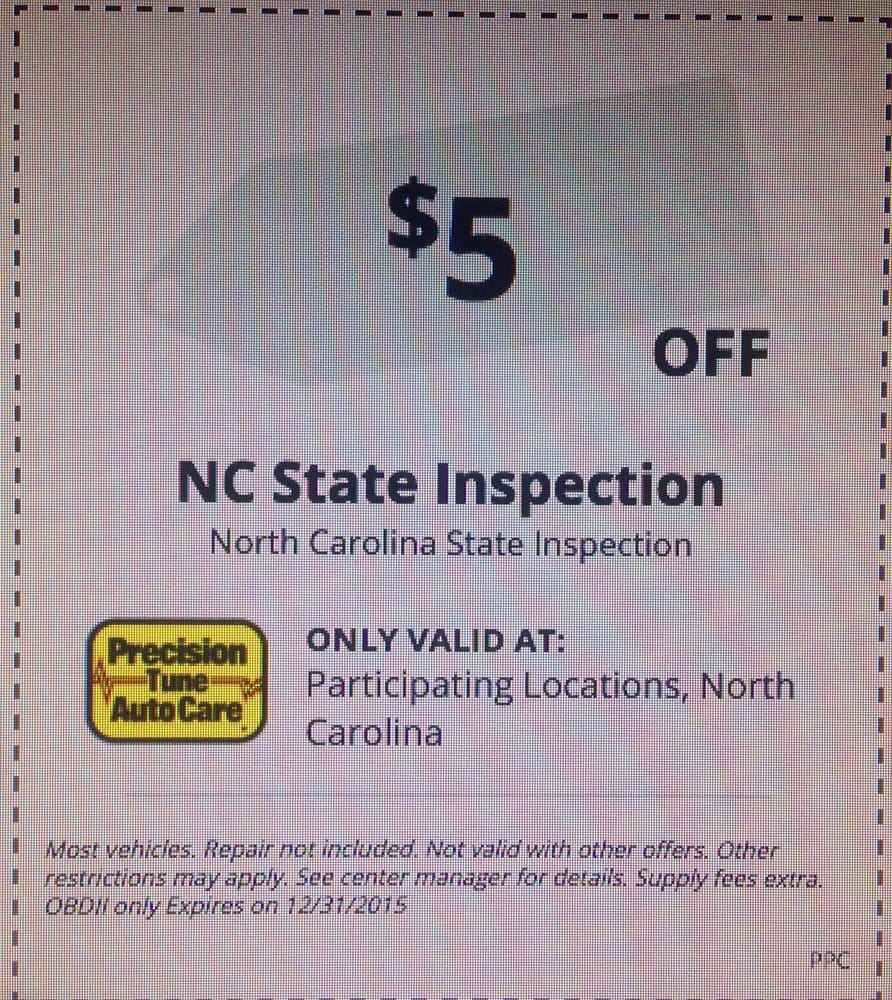 make sure you look online for their 5 off state inspection coupon