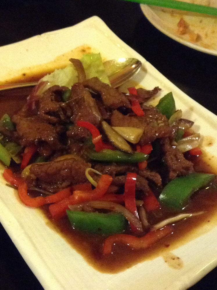 Beef stir fry beef was okay but not a lot yelp for Aqua malaysian thai cuisine