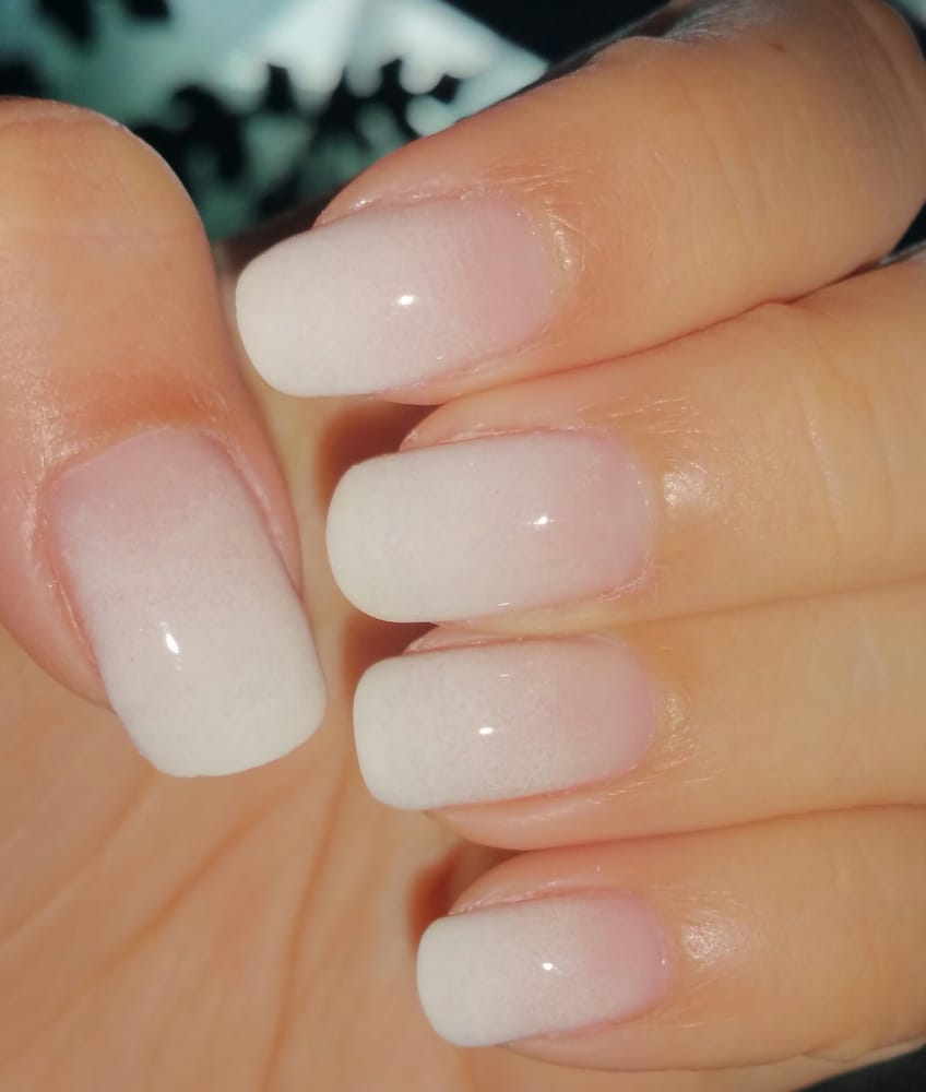 white ombre gel nailsann. love them! - yelp