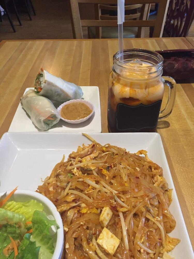 Fresh roll and Thai iced tea Yelp