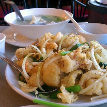 Photo Of Om Seafood Restaurant Portland Or United States Pepper Salted Squid