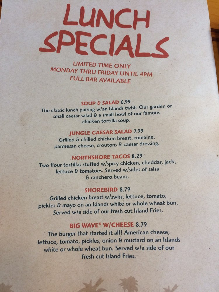 Photo Of Islands Restaurant Burbank Ca United States Lunch Specials