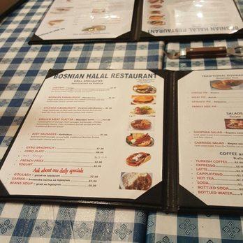 Photo Of Bosnian Halal Restaurant Hanover Park Il United States Menu At