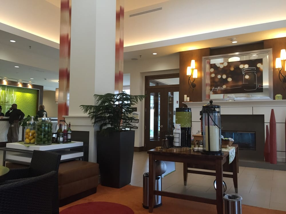 The Lobby Is Very Welcoming At The Hilton Garden Inn Yelp