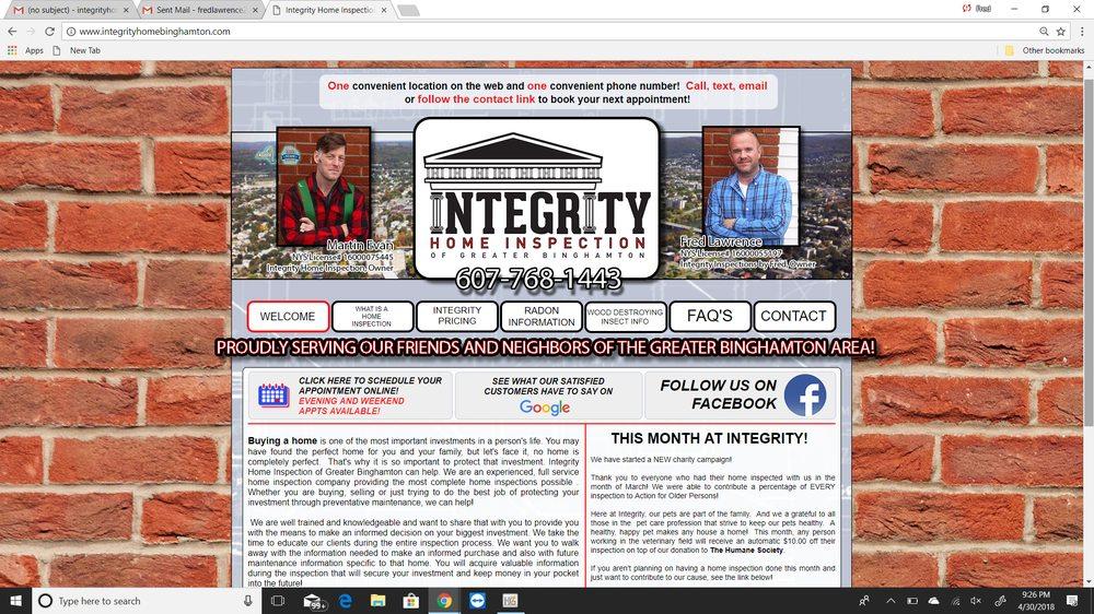 Integrity Home Inspection of Greater Binghamton: Vestal, NY